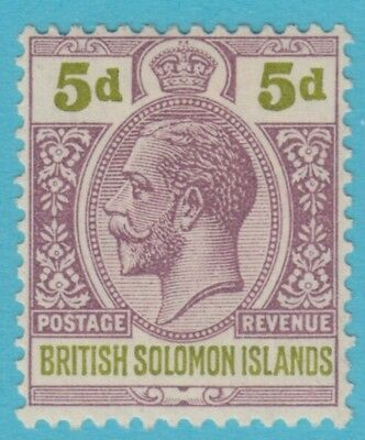 Solomon Islands 50 Mint Hinged Og *  No Faults Extra Fine !