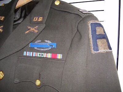 WWII ETO 78th DIVISION Officers Uniform with All Bullion Insignia