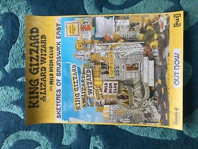 King Gizzard and the Lizard Wizard - Sketches Of Brunswick E. Promo poster -mint