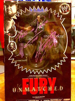 wwe undertaker unmatched fury 12 signed