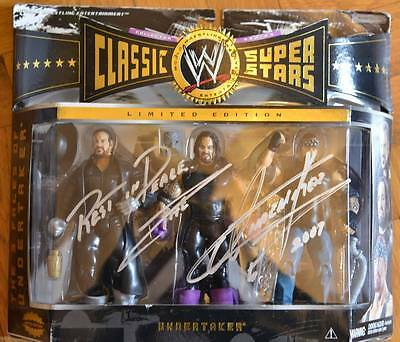 wwe undertaker 3 faces classic superstars signed