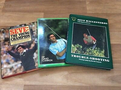 3 X Collectable Seve Ballesteros Hardback Golf Books With Jackets