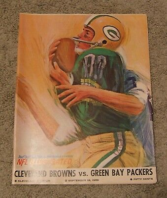 1966 NFL Green Bay Packers Browns Program Sept 18 1966