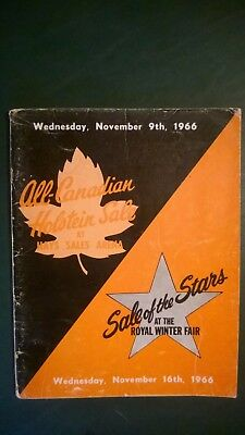 1966 All-Canadian & Sale Of Stars Holstein Sale Catalog Ontario Canada