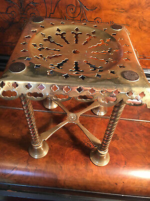 Antique 19th Century Brass Trivet For Fireplace