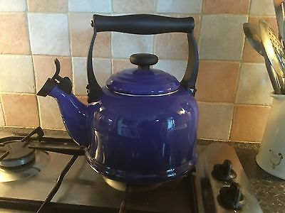 Le Creuset Traditional Kettle with Whistle, 2.1 L - Blue enamel used once