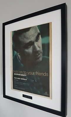 Morrissey Framed ORIGINAL NME 1994 VERY RARE-Hold Onto Your Friends LARGE Smiths