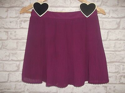 M&S Autograph Girls Lined Pleated Skirt Age 11-12