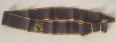 VINTAGE HAT BAND FOR ABERTILLERY CHURCH MIXED SCHOOL, WALES 1930's/40's
