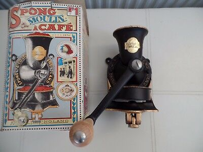 Spong Cast Iron No. 1 Coffee Mill Grinder Boxed Excellent