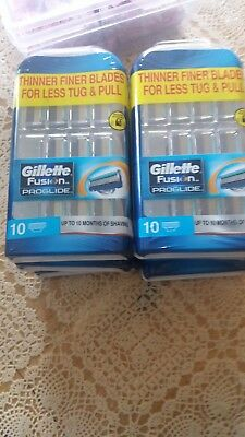 gillette fusion proglide 10 pack 6 available