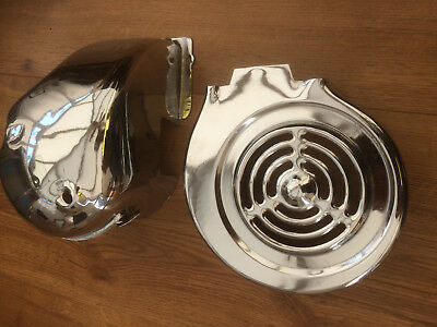 Lambretta Gptype  Engine Cowl  Fan Cylinder Cowling And  Chrome Headcowl.new