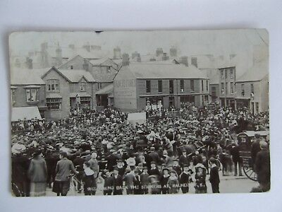 R/p Postcard Welcoming Back The Strikers At Raunds Huge Gathering