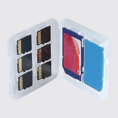 Useful 8 Slots Micro SD MMC TF Memory Card Storage Box Protecter Case Hold New