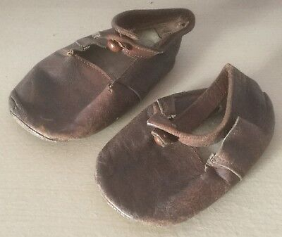 Vintage Pair Of Child'S Leather Shoes