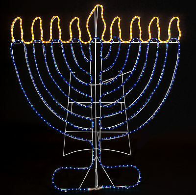 The Holiday Aisle Indoor and Outdoor Rope Light Menorah