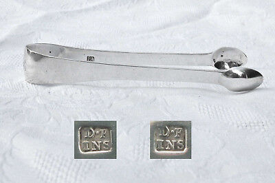 ANTIQUE SILVER INVERNESS SUGAR TONGS c1810 SCOTTISH PROVINCIAL