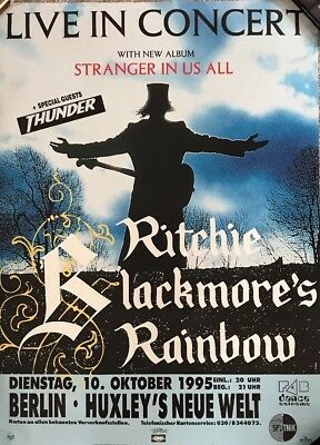 Ritchie Blackmore's Rainbow Stranger In Us All Tour Poster