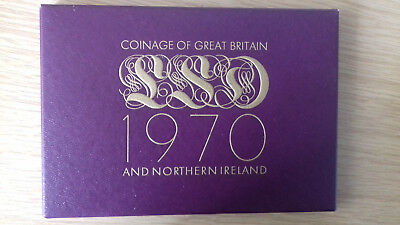 1970 Gb The Coinage Of The United Kingdom Proof Set 8 Coins