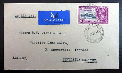 NORTHERN RHODESIA 1935 - 6d Silver Jubilee Airmail Cover to England AH597