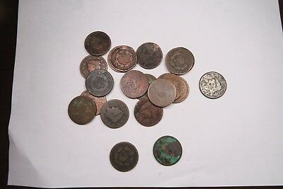 (20) Mixed 1800's Large Cent Lot // 20 Coins // ~ FREE SHIPPING! ~ (LCL74)