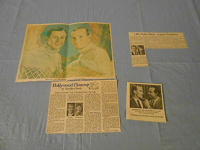 Dick & Tom Smothers Brothers   clippings #G1515