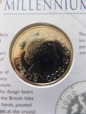 £5 five pound coin Millennium Brilliant Uncirculated