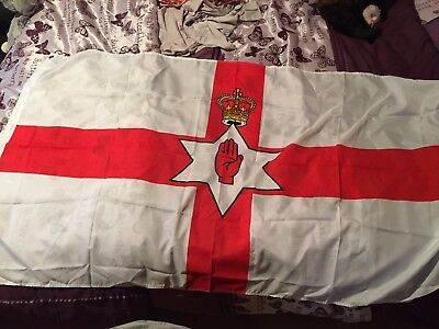 Northern Ireland Flag Ulster Hand Ni Irish Flags 5FT x 3FT Football Giant