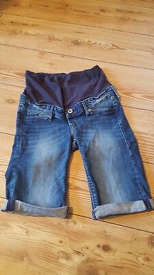 size 8 maternity denim shorts from H and M