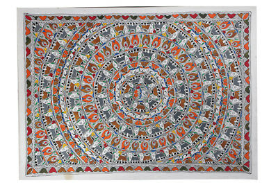 Classy Fish in a Circular Pattern Wall Hanging by Artist from Bihar