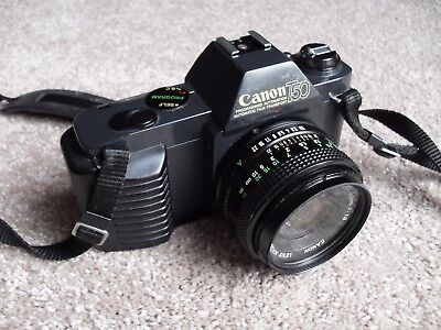 CANON T50 35mm SLR Camera w/CANON FD 50mm 1:1.8 LENS+Filter