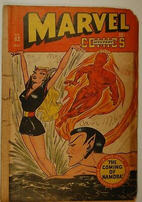 Marvel Mystery Comics #82 (May 1947, Marvel) Incomplete, Poor, Coming of Namora!