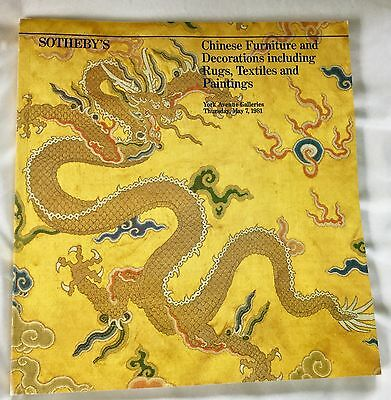 Sotheby's Chinese Furniture Decorations Rugs, Textiles, Paintings May 7, 1981