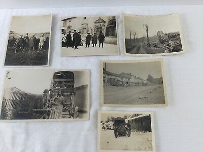 WW1 ORIGINAL PERIOD PHOTOs Soldiers in France x6