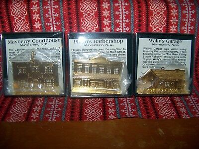The Andy Griffith Show: Mayberry Storefronts Christmas Ornaments Lot of 3