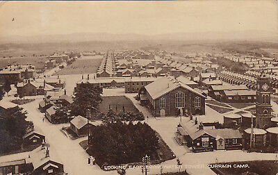 Unused postcard ~ Looking east from water tower Curragh Camp