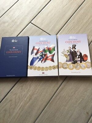 Royal Mint Great British Coin Hunt Albums £1, £2 & £1 Collectors Edition Rare