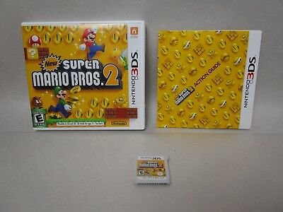 New Super Mario Bros. 2 (Nintendo 3DS, 2012) Complete with Case and Manual