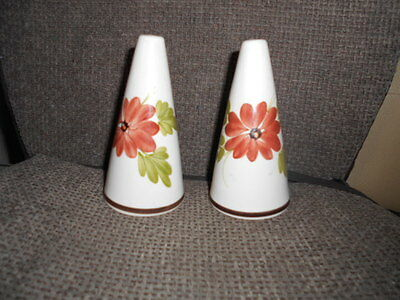 Toni Raymond Potteries Conical Floral Salt And Pepper Pots