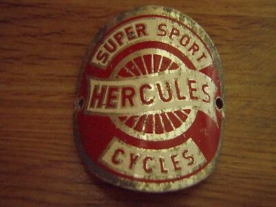 "Vintage Bicycle Head Badge "" Hercules Cycles ""."