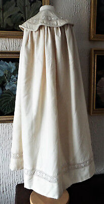 Antique Baby Christening Cape/silk Grosgrain.