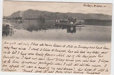 Cumbria/ LAKE DISTRICT / WINDERMERE/ Ferry boat/ vintage card