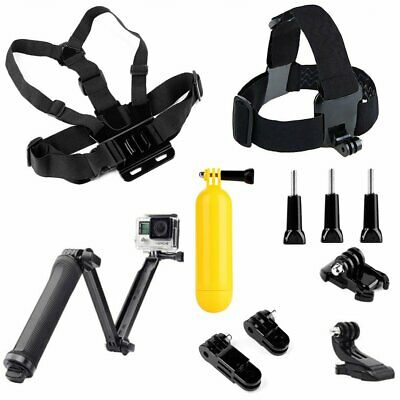 Chest Head Strap Mount Float Grip 3-Way Bracket For GoPro 7 6 5 4 3+ Xiaoyi 4K