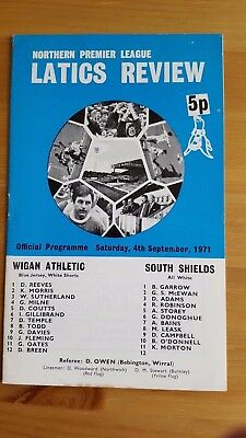 Wigan Athletic V South Shields 4.9. 1971 - Northern League Premier
