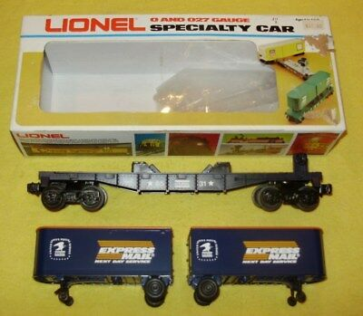 LIONEL O & O-27 (1:43) #6-6531 US POST EXPRESS MAIL-from 1984-Flat / 2 25ft Vans