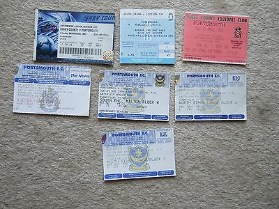 7 different portsmouth tickets 1988 to 2002