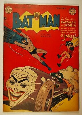 """Batman #52 (Apr-May 1949, DC) Joker Cover and Story """"The Happy Victims!"""""""