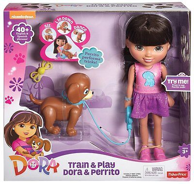 New Fisher Price Dora Doll Friends Train and Play Perrito Puppy Toy Nickelodeon