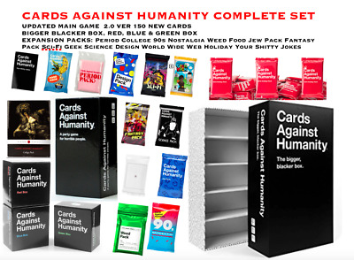 Cards Against Humanity Main Game Expansions Bigger Blacker Box Complete Set NEW