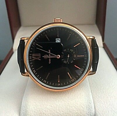 7 DAY AUCTION RRP£300+ Enzo Giomani Mens Rose Gold Leather WATCH Tag Em Boss Box